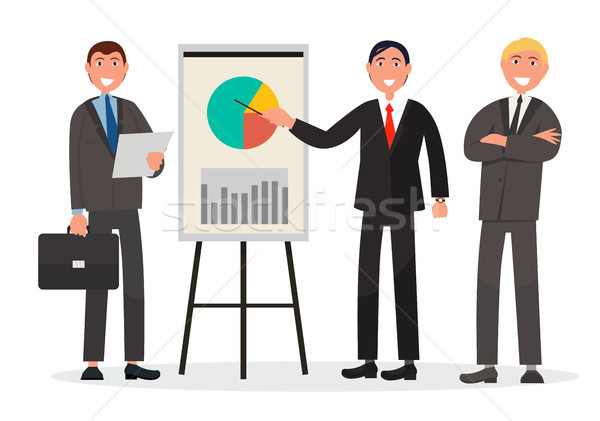 Zespołu statystyka prezentacji Zdjęcia stock © robuart