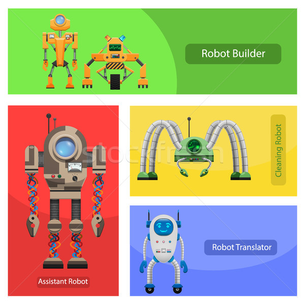 Modern Roobots for Various Needs Illustrations Set Stock photo © robuart