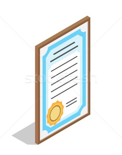 Diploma educativo institución graduación grande oro Foto stock © robuart