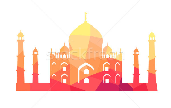 Famous Indian Building of Taj Mahal Illustration Stock photo © robuart