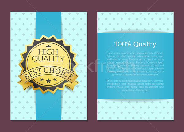 100 Percent High Quality Award Best Choice Vector Stock photo © robuart