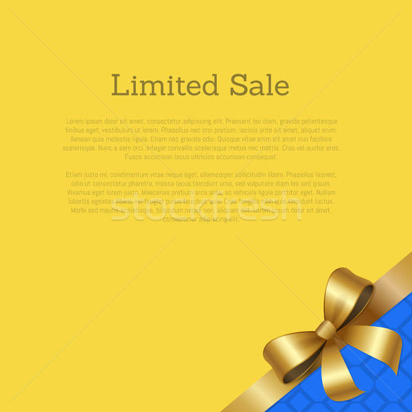 Limited Sale Certificate Card Design Ribbon Vector Stock photo © robuart