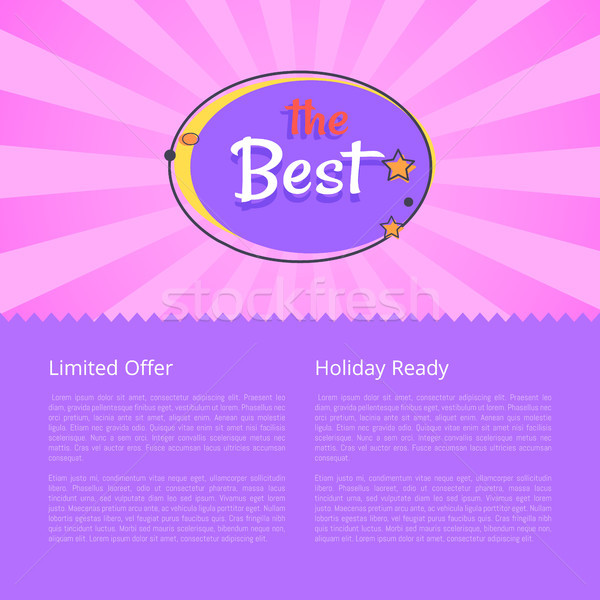 Limited Offer Holiday Ready Best Night Sale Banner Stock photo © robuart