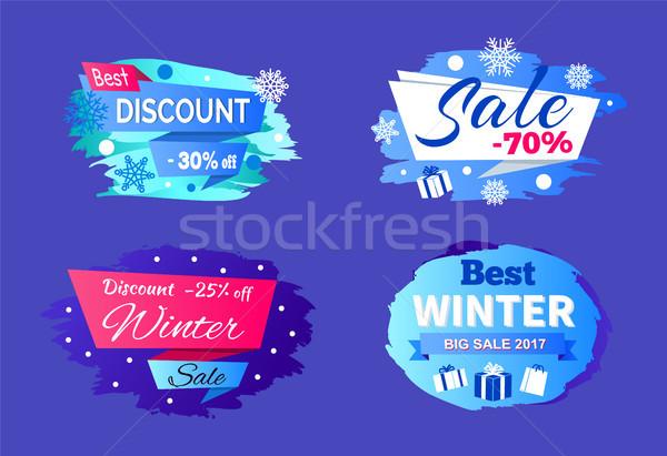 Best Big Winter 2017 Sale Vector Illustration Stock photo © robuart