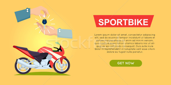 Buying Sportbike Online. Bike Sale. Web Banner. Stock photo © robuart
