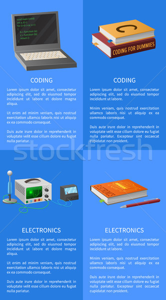Electronics and Coding Lessons Promotional Poster Stock photo © robuart