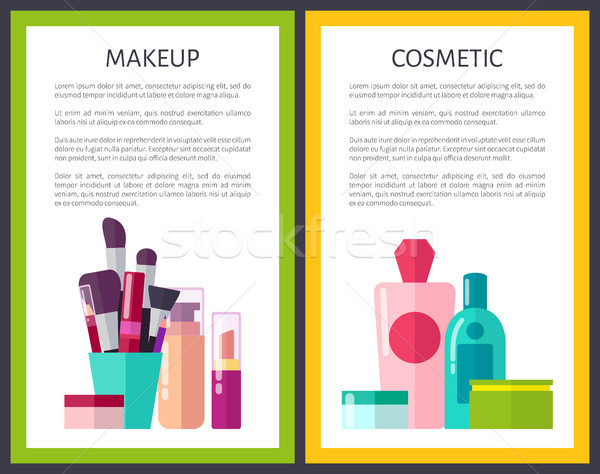 Makeup Cosmetic Color Posters Vector Illustration Stock photo © robuart