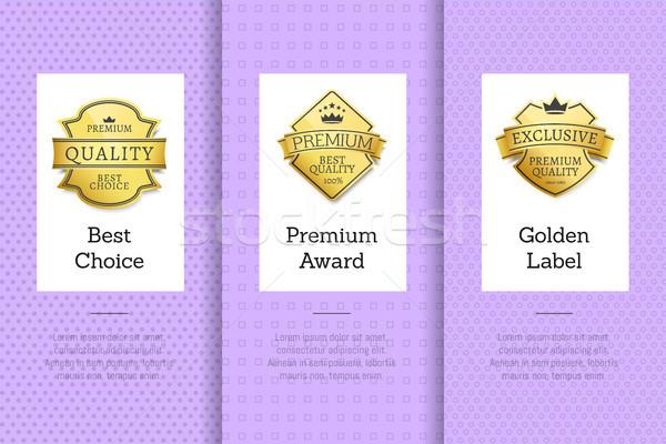 Legjobb választás prémium díj arany címke garancia Stock fotó © robuart
