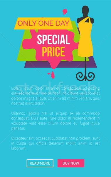 день специальный цен рекламный плакат Сток-фото © robuart