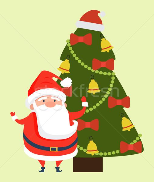 Felicitaciones papá noel alegre navidad Navidad feliz año nuevo Foto stock © robuart