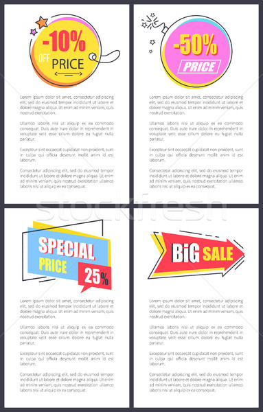 Special Price -10 Off Banners Vector Illustration Stock photo © robuart