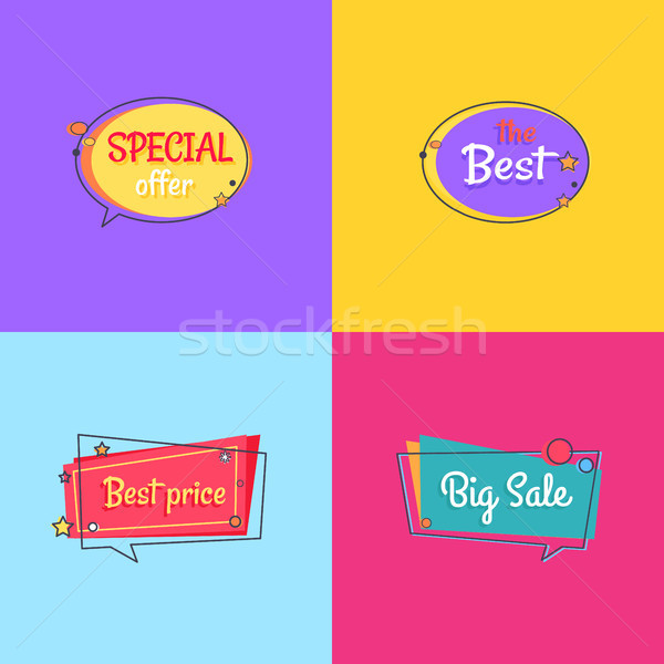 The Best Special Offer Price Sale Set of Posters Stock photo © robuart