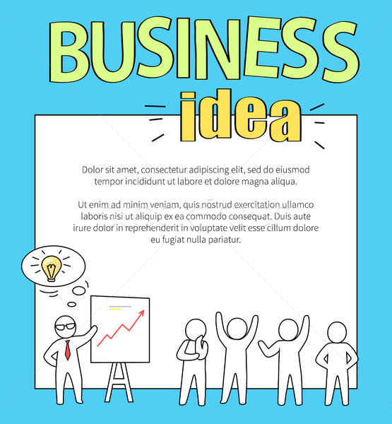 Stock photo: Business Idea with Text on Vector Illustration