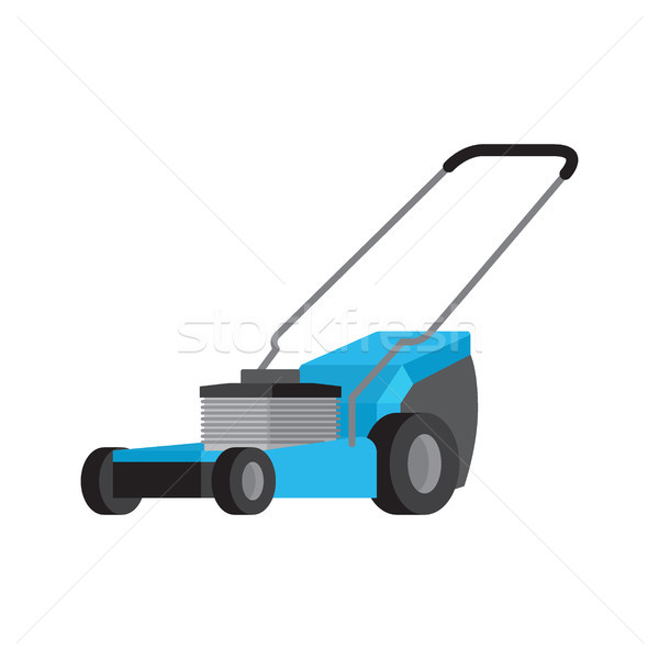 Blue lawnmower isolated flat vector icon Stock photo © robuart