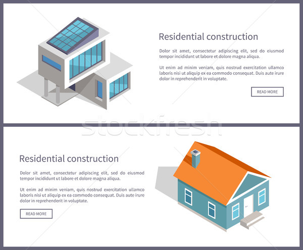 Residential Construction Web Vector Illustration Stock photo © robuart
