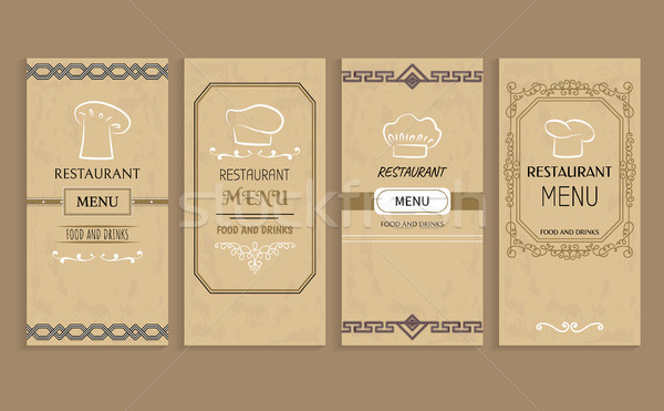 Restaurant Menu with Drinks and Food Templates Stock photo © robuart