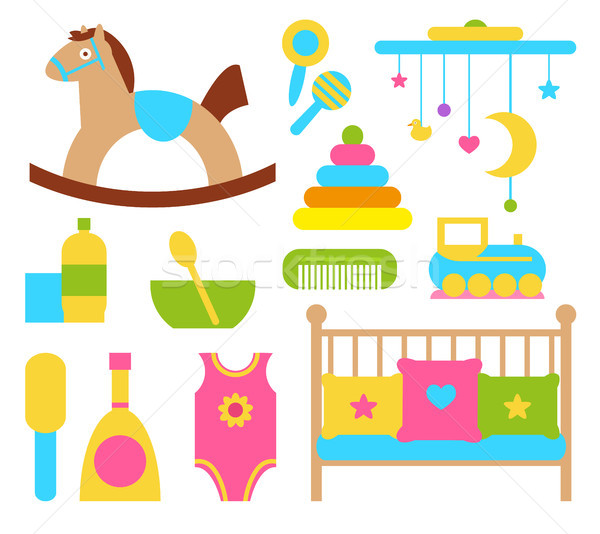 Toys and Items for Children Vector Illustration Stock photo © robuart