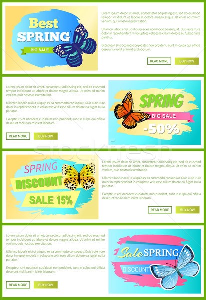 Stockfoto: Voorjaar · verkoop · posters · vlinder