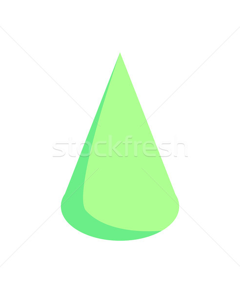 Green Cone Pattern, Colorful Vector Illustration Stock photo © robuart