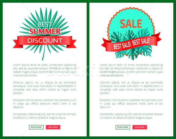 Migliore estate sconto vendita promo palme Foto d'archivio © robuart