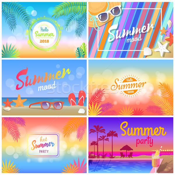 Caldo estate party ciao stato d'animo banner Foto d'archivio © robuart