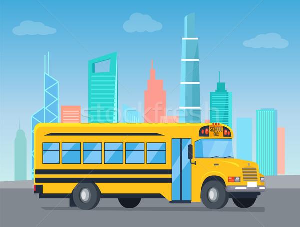 スクールバス 景観 コレクション バス タイトル 輸送 ストックフォト © robuart