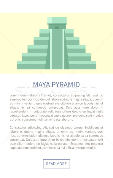 Maya Pyramid Web Page Text Vector Illustration Stock photo © robuart