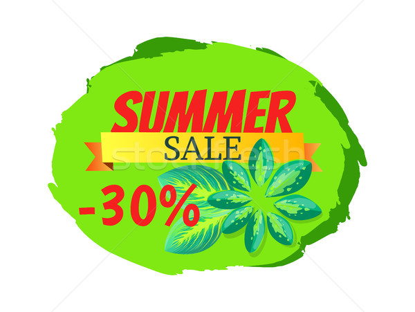 Summer Sale with 30 Off Promo Tropical Banner Stock photo © robuart