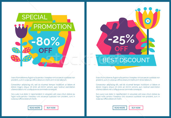 Special Promotion Premium Total Sale Posters Set Stock photo © robuart