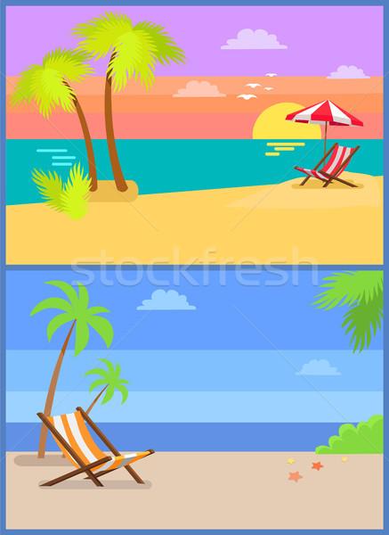 день Тропический остров летнее время рай пальма Сток-фото © robuart