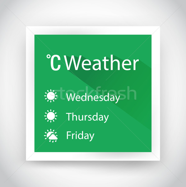 Stock photo: Icon of weather for web and mobile applications