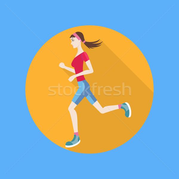 Running woman Stock photo © robuart