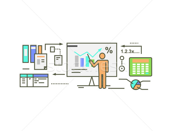 Forecast Concept Icon Flat Style Stock photo © robuart