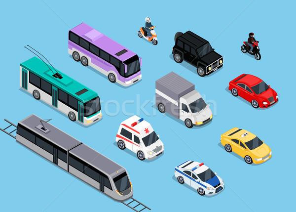 Isometric 3d Transport Set Flat Design Stock photo © robuart