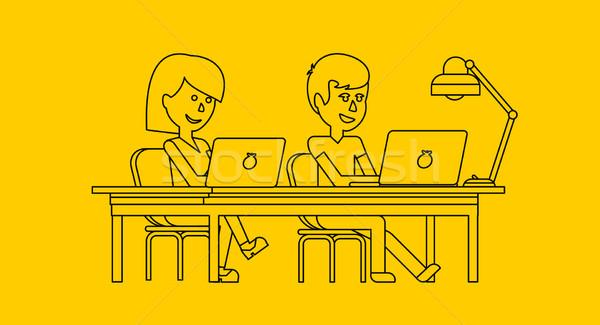 人 作業 オフィス デザイン ビジネス女性 男 ストックフォト © robuart