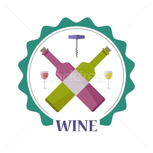 şarap Filmi poster etiketler Stok fotoğraf © robuart