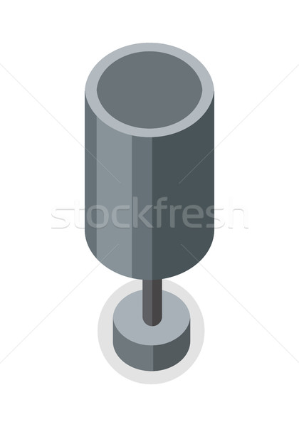 Street Trash Urn vector in Isometric Projection. Stock photo © robuart