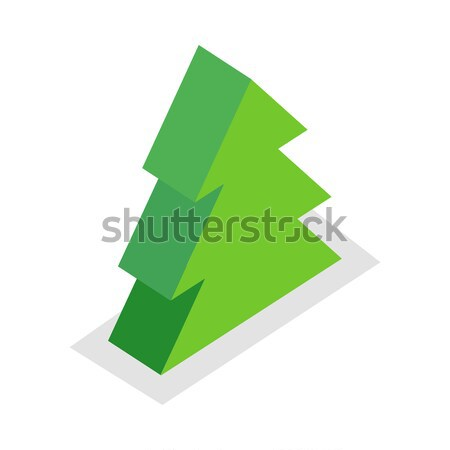 Spruce Tree Illustration in Isometric Projection. Stock photo © robuart