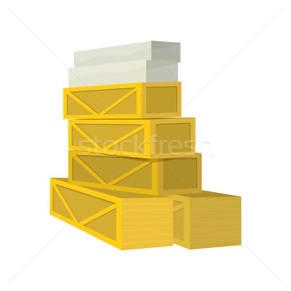 Boxen Waren Karton Holz gestapelt Stock foto © robuart