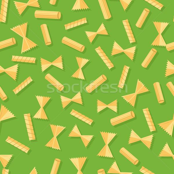 Pasta Seamless Pattern Isolated on White Stock photo © robuart