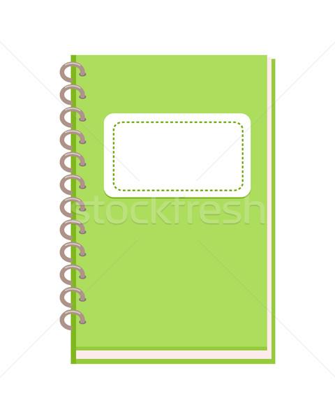 Espiral cuaderno diseno verde vertical bloc de notas Foto stock © robuart