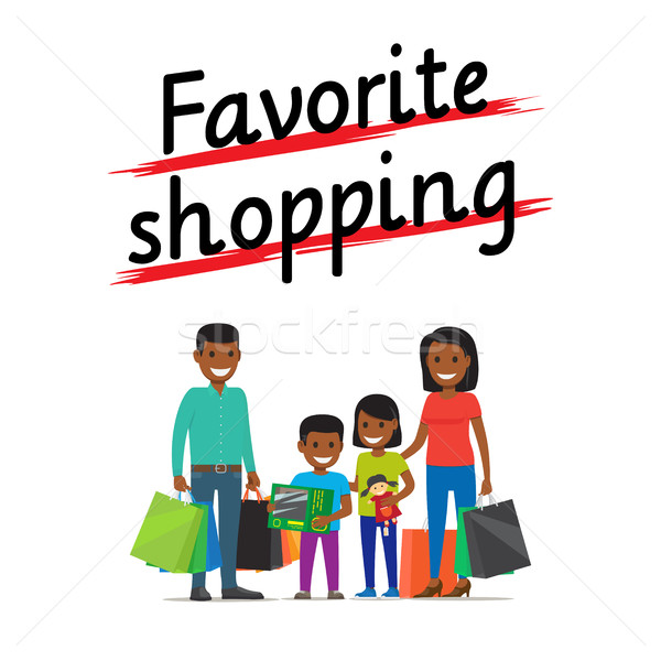 Favorite Family Shopping Process Icon on White Stock photo © robuart