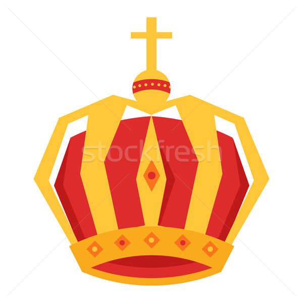 Mardi Gras. Gold King Crown Isolated Illustration Stock photo © robuart