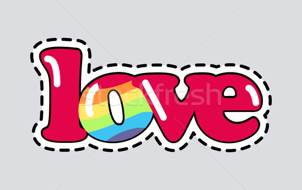Love. Cut it out. Patch. Isolated Romantic Icon Stock photo © robuart