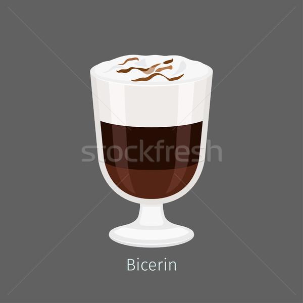 традиционный итальянский горячий напиток Cartoon икона серый Сток-фото © robuart
