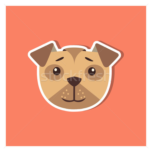 Canine Head of Boxer Dog Cartoon Icon Close-up Stock photo © robuart