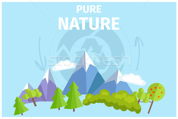 Pur nature vert arbres montagnes bleu Photo stock © robuart