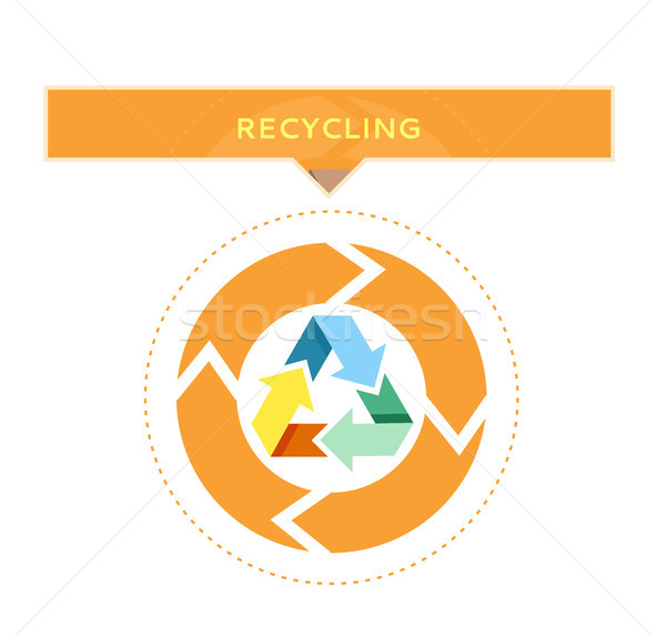 Recycling Logo Design with Circle Graphic Vector Stock photo © robuart