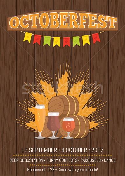 Octoberfest Oktoberfest Promotional Poster Vector Stock photo © robuart