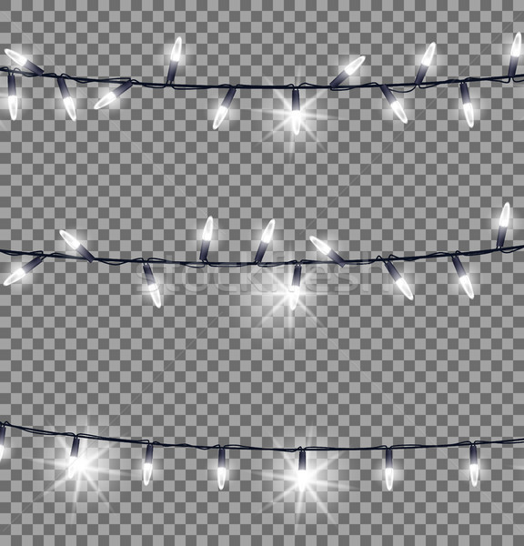 Strings of Glowing Christmas Lights Illustration Stock photo © robuart